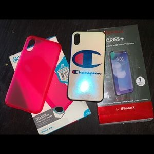 Speck and champion iPhone X/XS phone cases